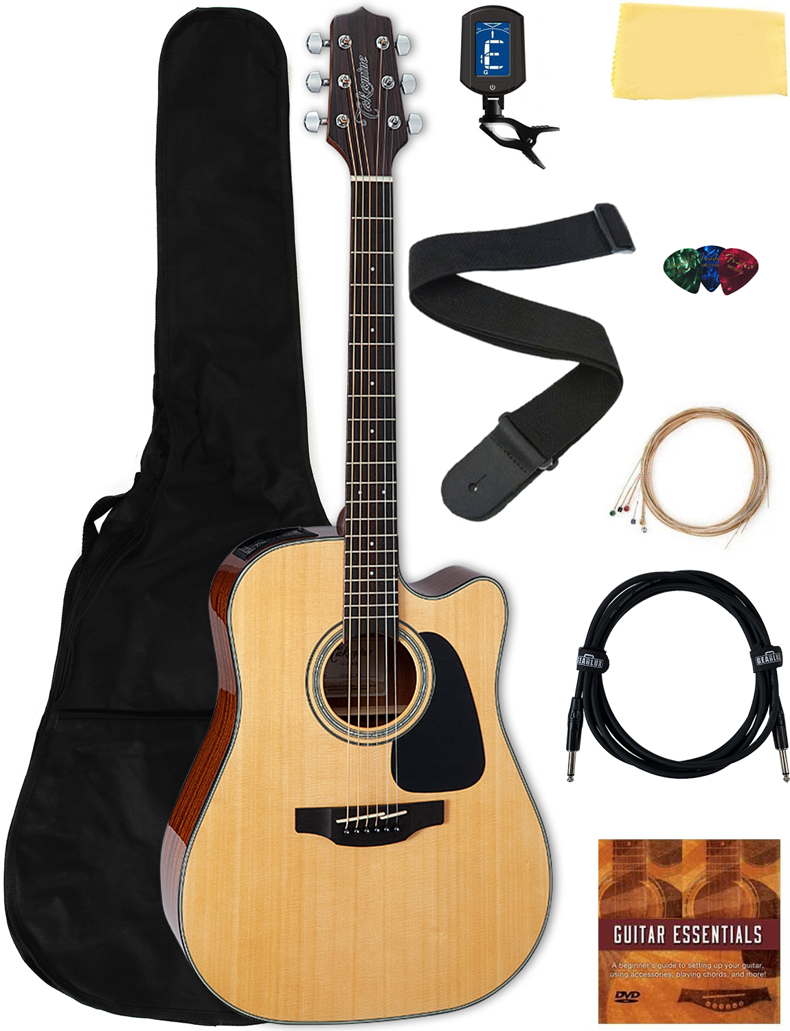 Takamine GD30CE Dreadnought Acoustic-Electric Guitar - Natural w  Gig Bag