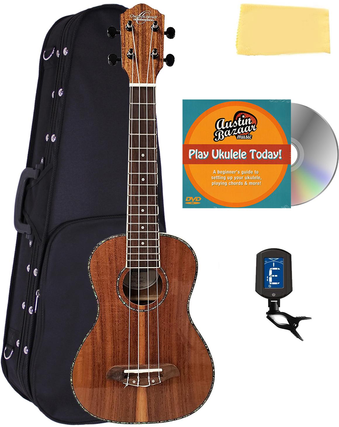 Oscar Schmidt Ou5 Koa Concert Ukulele W Hard Case 721405633982 Ebay