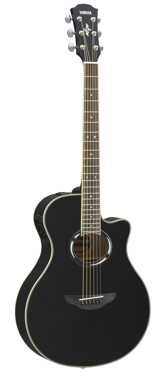 yamaha apx500iii thinline acoustic electric cutaway guitar black for sale online ebay. Black Bedroom Furniture Sets. Home Design Ideas