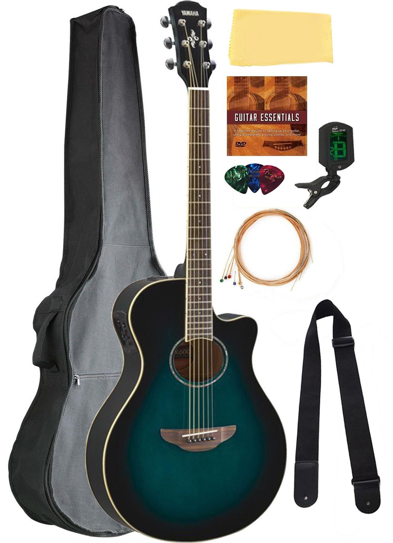 yamaha apx600 thin body acoustic electric guitar blue burst bundle w gig bag ebay. Black Bedroom Furniture Sets. Home Design Ideas