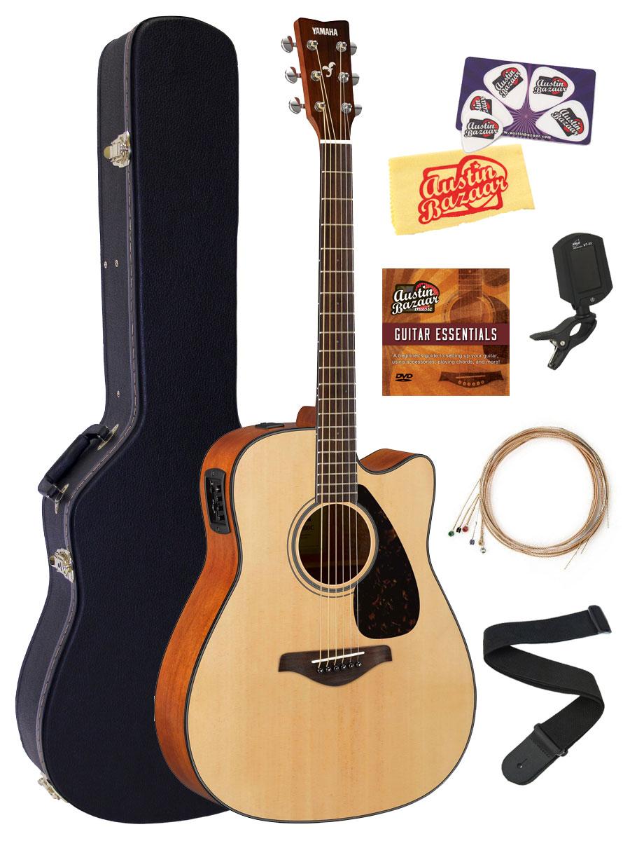 Yamaha FGX800C Solid Top Folk Acoustic-Electric Guitar - Nat