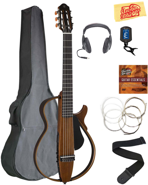 yamaha slg200n nylon string silent guitar bundle with gig. Black Bedroom Furniture Sets. Home Design Ideas