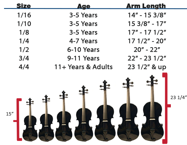 How to buy a violin violin sizes types austin bazaar music