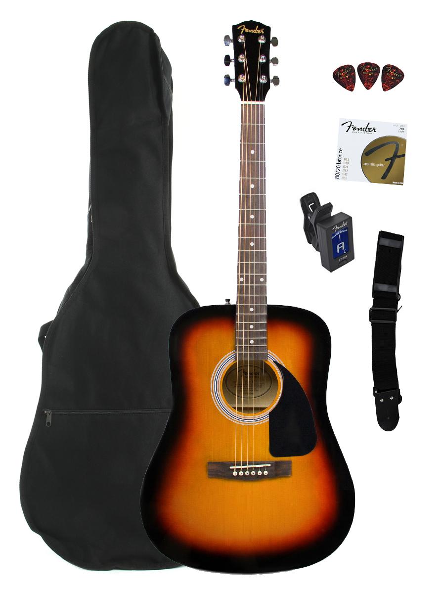 Fender FA-100 Guitar Bundles - Gifts for Guitarists
