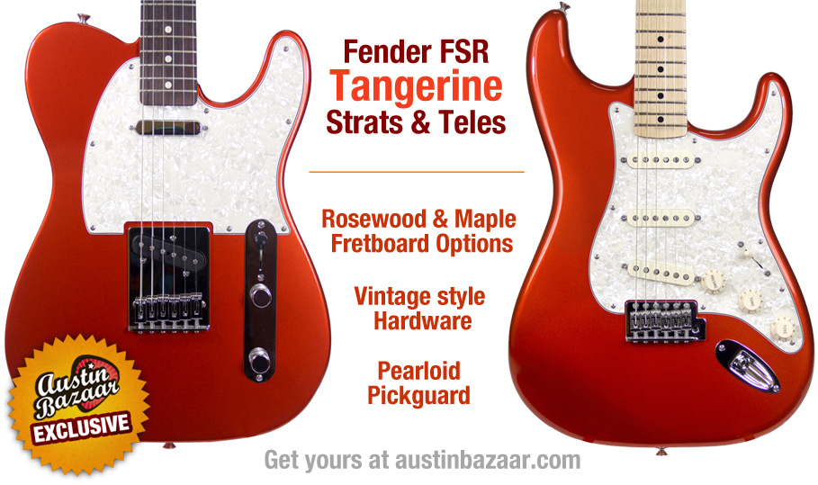 Fender Tangerine Stratocaster and Telecaster - Limited Edition FSR