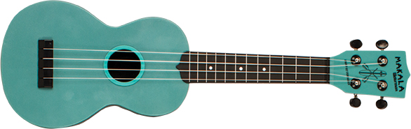 KALA KA-SWG-BL WATERMAN SOPRANO UKULELE - GLOW-IN-THE-DARK BLUE MATTE